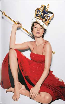 Why Kate Moss still wears her crown...
