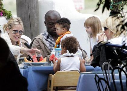 Heidi Klum and Seal: Family Beach Day