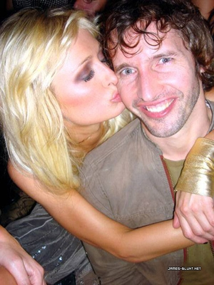 Paris Hilton and James Blunt Makeout Session