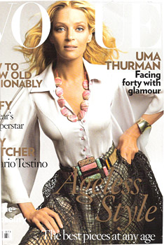 Uma Thurman scores July \'08 cover of Vogue UK