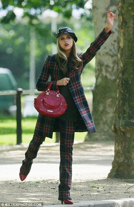 Hoots mon! Peaches the model stars in a tartan-themed photoshoot