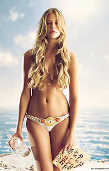 Model Zionist: Bar Refaeli poses for Jewish swimsuit calendar