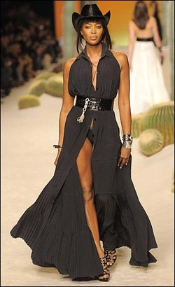 Yeeha! Naomi Campbell is a cowgirl
