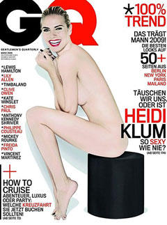 Heidi Klum naked cover shoot