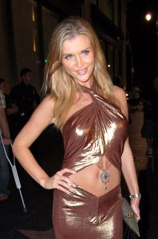 Joanna Krupa\'s Belly Baring Copper Dress