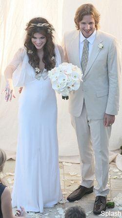 Milla Jovovich designs her own wedding dress