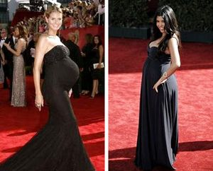 Pregnant Heidi Klum and Kourtney Kardashian Speak of Dressing for Emmys