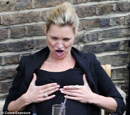 Bloomin\' Ada! Now Kate Moss has turned into Les Dawson