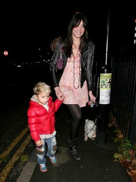 Daisy Lowe Takes Half-Brother Kingston Rossdale for a Walk