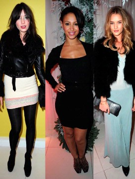 Daisy Lowe, Rosie Huntington-Whitely and Amelle Berrabah Look Super-Stylish