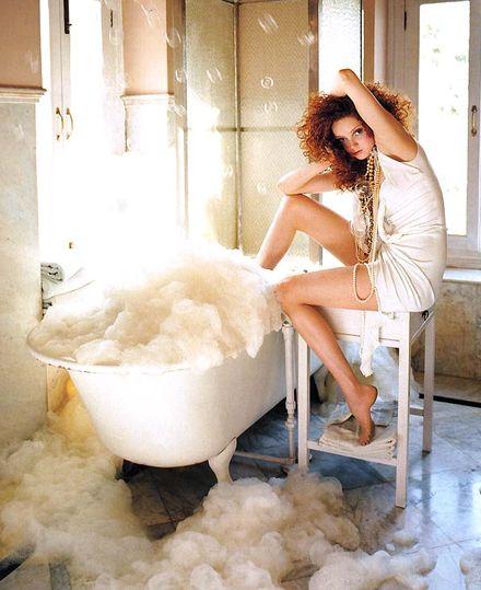 девушки в ванной фотосессия