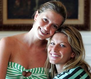 Double the fun as Gisele Bundchen's twin ties knot in Brazil