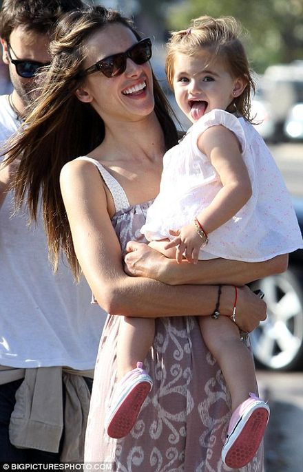 Alessandra Ambrosio takes her adorable daughter to the park