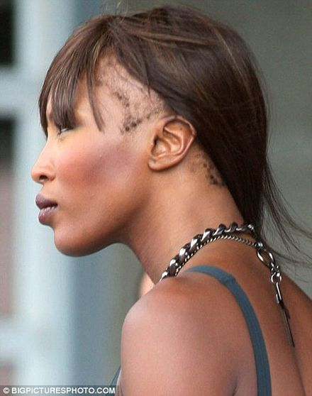 Just WHERE has Naomi Campbell\'s hair gone?
