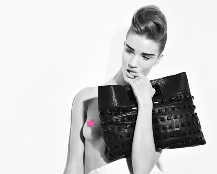 Rosie Huntington-Whiteley Goes Topless for Thomas Wylde