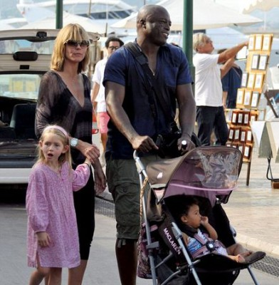 Singer joins wife Heidi and their brood for a family trip to the fair in France