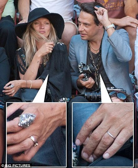 Is Kate Moss getting married Its got the ring of truth about it