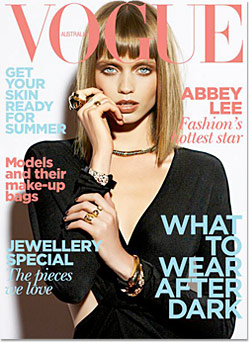 Abbey Lee Kershaw Covers Australian Vogue for the Fourth Time