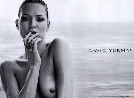 Kate Moss poses topless in new ad