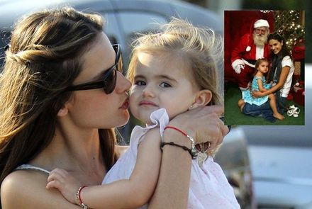 Alessandra Ambrosio Takes Daughter Anja to See Santa at the Mall