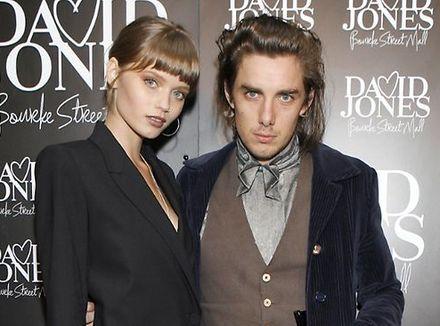 Abbey Lee Kershaw and boyfriend Matthew Hutchison model in London\'s fashion week