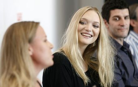 Heavy protocol at Gemma Ward media conference
