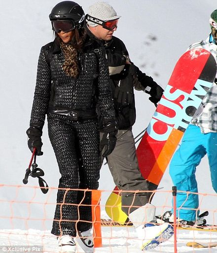 Naomi Campbell ditches London Fashion Week for romantic ski brea