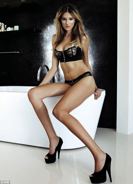 Victoria\'s Secret\'s newest it girl Kylie Bisutti strips off for racy FHM photo-shoot
