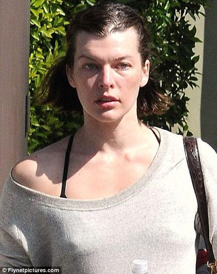 Make-up free Milla Jovovich looks all puffed out | News