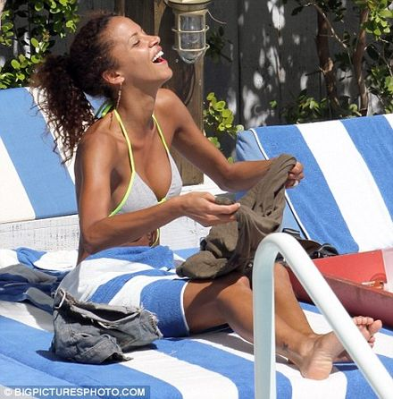 Noemie Lenoir looks the picture of health as she dashes