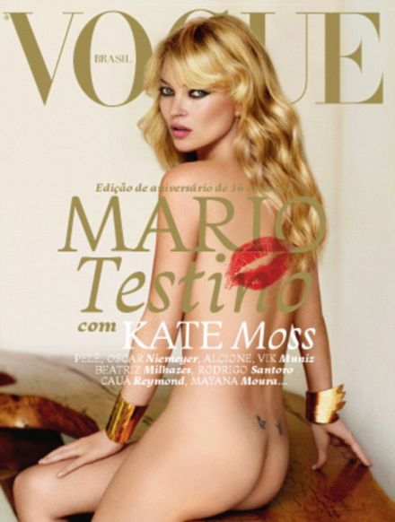 Kate Moss Bares All to Brazilian Vogue