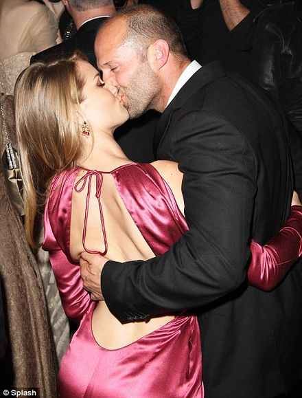 Rosie Huntington-Whiteley Gets a Kiss at New York Met Gala