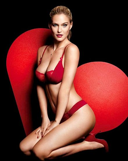 Bar Refaeli poses in red hot lingerie