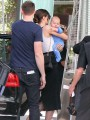 Miranda Kerr goes shopping with her baby