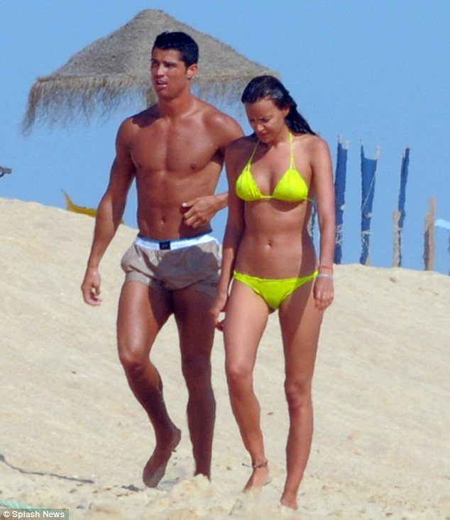 Cristiano Ronaldo getting frisky with Irina Shayk