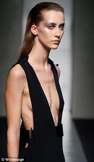 Gaunt model shocks at Milan fashion show
