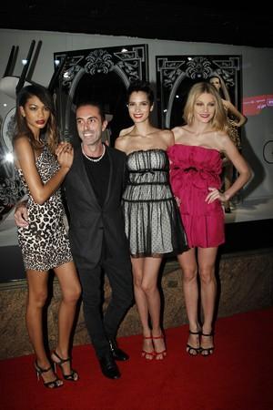 Jessica Stam, Chanel Iman, and Hanaa Ben Abdesslem help launch Giambattista Valli for Macy\'s