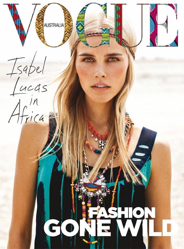 Isabel Lucas does Vogue Australia