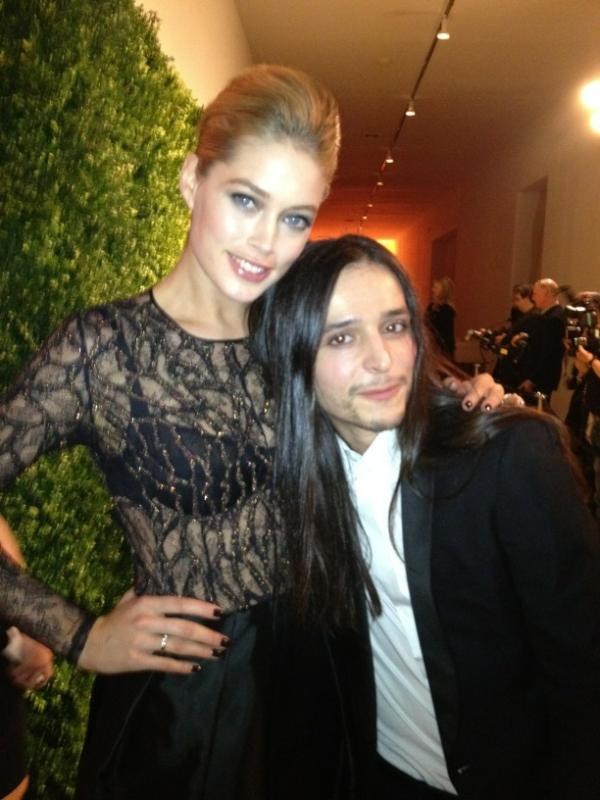 Coco, Doutzen, and Jessica supporting emerging fashion designers at CFDA awards