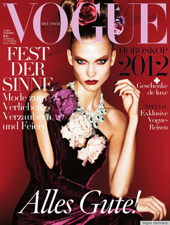 Karlie Kloss covers  German Vogue December issue