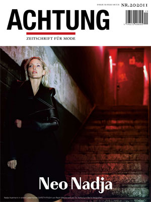 Nadja Auermann back in action in ACHTUNG MODE