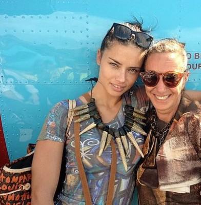 Adriana Lima travels to Haiti with Donna Karan