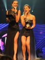 Beauties Bar Refaeli and Irina Shayk present at EMA\'s and have Gaga bowing down to them