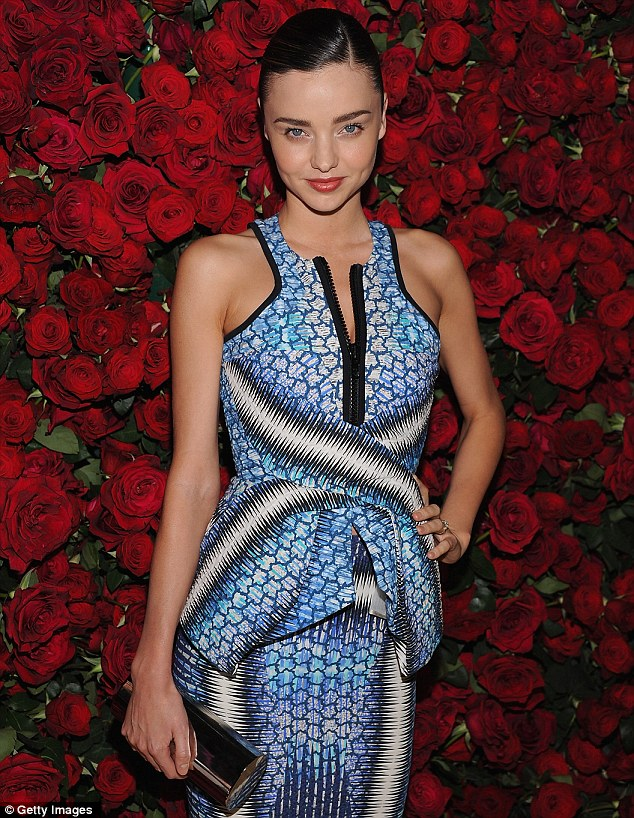 Miranda Kerr dazzles in Peter Pilotto at Museum of Modern Art