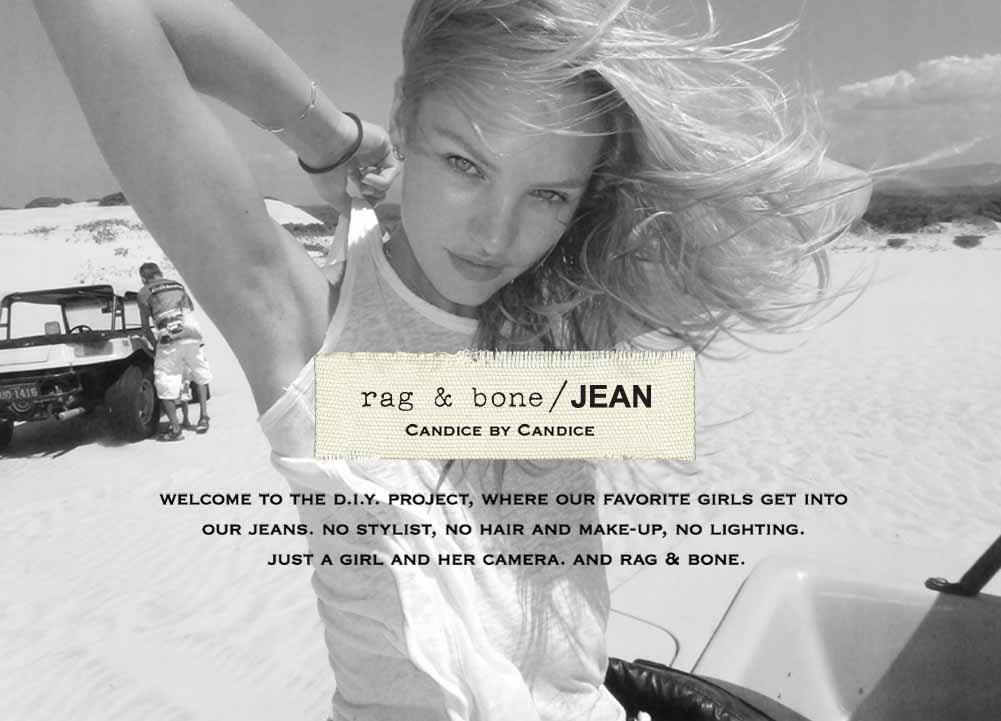 Candice Swanepoel: New face of Rag & Bone\'s DIY project