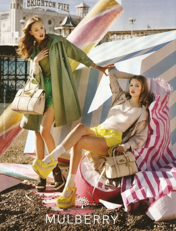 Lindsey Wixson and Frida Gustavsson for Mulberry SS 2012