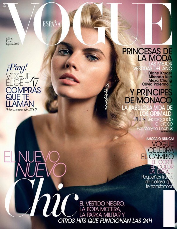 Maryna Linchuk Channels Grace Kelly For Spanish Vogue
