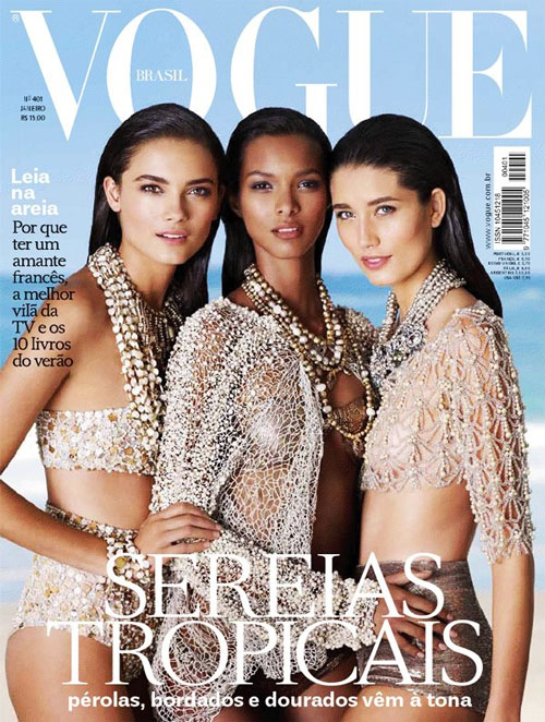 Beach beauties cover January 2012 edition of Vogue Brazil