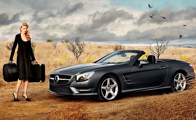Lara Stone models for Mercedes Benz