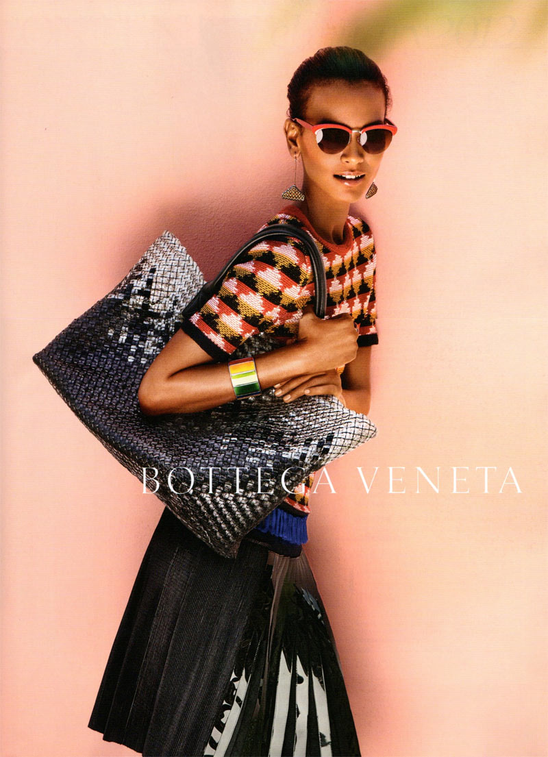 Liya Kebede and Karmen Pedaru for Bottega Veneta